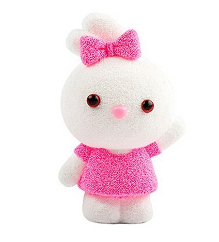 Beads mud clay dolls for Kids or Baby DIY Colorful Toy(Pink Rabbit)