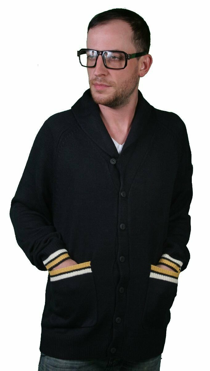 Crooks and Castles Bleu Marine Cc Ancre Cardigan Tricot