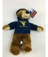 "TEAM SPIRIT WEST VIRGINIA MOUNTAINEERS HOODIE BEAR 14"" PLUSH COLLEGE SPO... - $12.99"