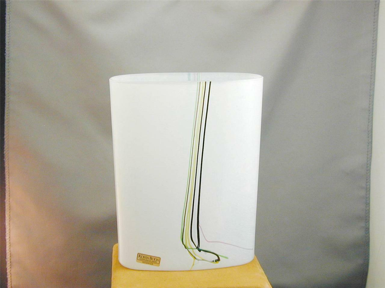 Primary image for STUNNING Kosta Boda Bertil Vallien Striped Vase Signed #'s Colorful NWT