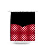 Minnie Rock The Dots Disney Inspired Shower Curtain - $48.99+