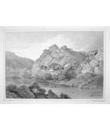 ITALY Sonnenburg at San Lorenzo di Sebato Tyrol- 1870s Original Engravin... - $30.22