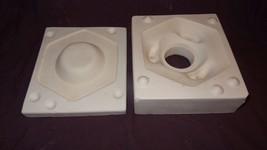 Boothe Ceramic Mold 340 Hex Fragment Trivet Used - $15.51