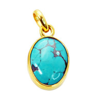 pleasing Turquoise Gold Plated Multi Pendant genuine normaly US gift - $12.86