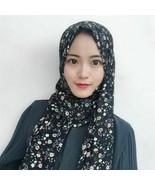 Muslim Headscarf Chiffon Islamic Hijab Floral Pattern Shawls Womens Turb... - $16.91