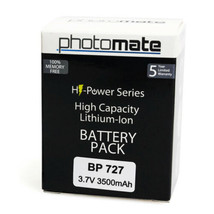BP-727 BP727 3500mAh Lithium Ion Battery for Canon - $3.95