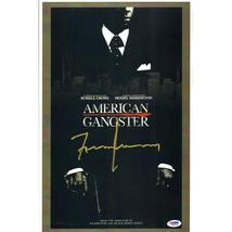 FRANK LUCAS / AUTOGRAPHED 11 X 17 AMERICAN GANGSTER MOVIE POSTER / PSA/DNA COA