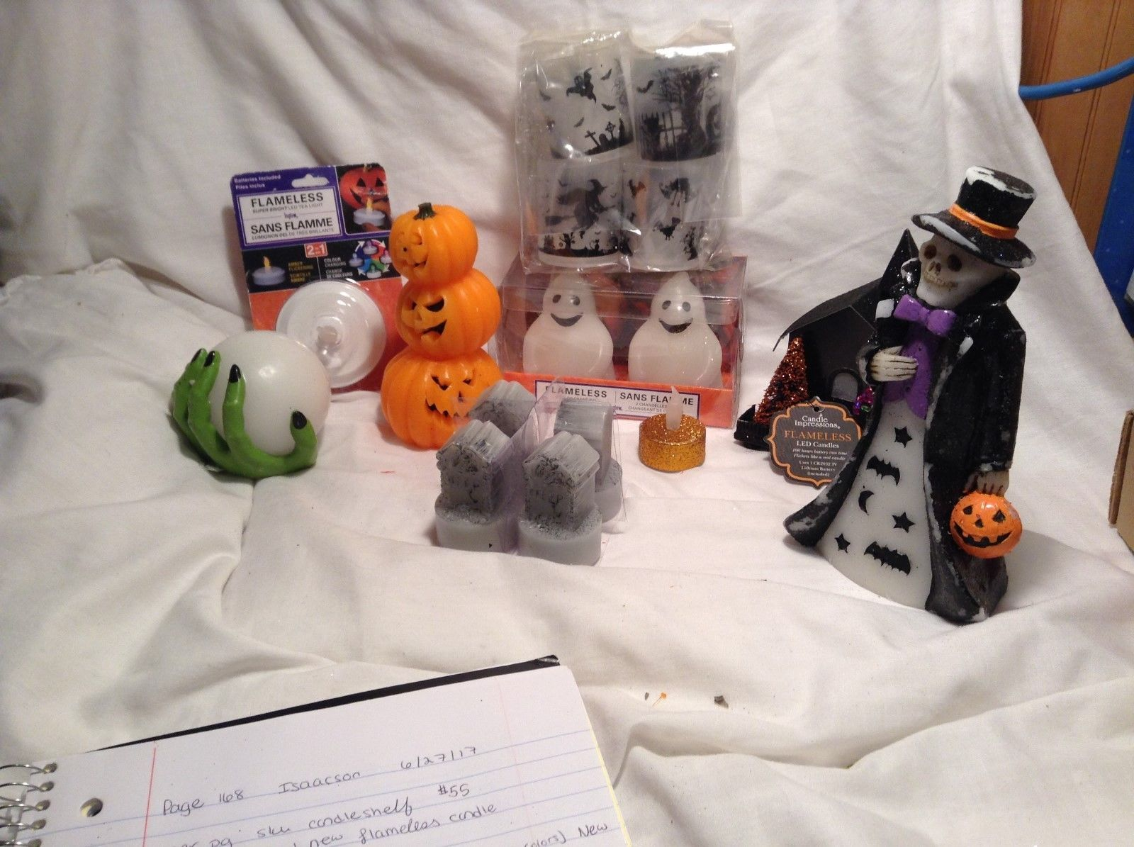 New and Used Mixed Lot Halloween Flameless Candles