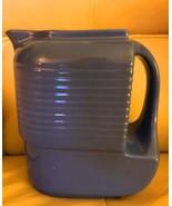 Hall Blue Stoneware Refrigerator Jar Jug with Handle Westinghouse - $33.51