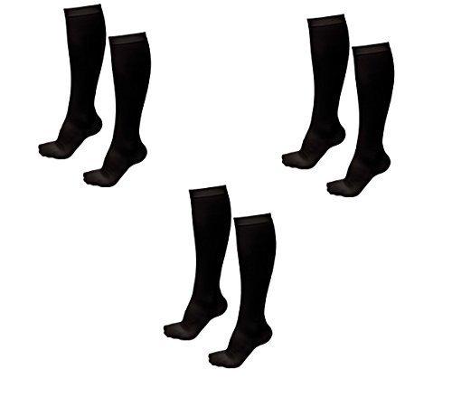 3 Pairs TASOM Compression Socks Over the Calf Below Knee Anti Fatigue Antimicrob - $14.99