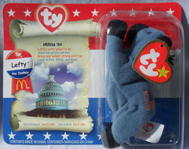 2000 Lefty The Donkey Ty Teenie B EAN Ie Baby Mc Donald's Sealed Pkg Excellent Cond - $5.97