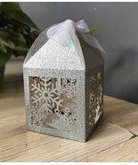 Snowflake 100pcs laser cut gift boxes,laser cut Favor boxes for christma... - $48.00