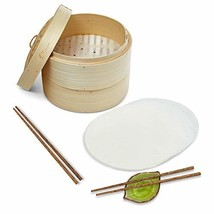 Premium Bamboo Steamer With EXTRA DEPTH - 10 Inch - Asian Steam Pot - Ri... - $30.76