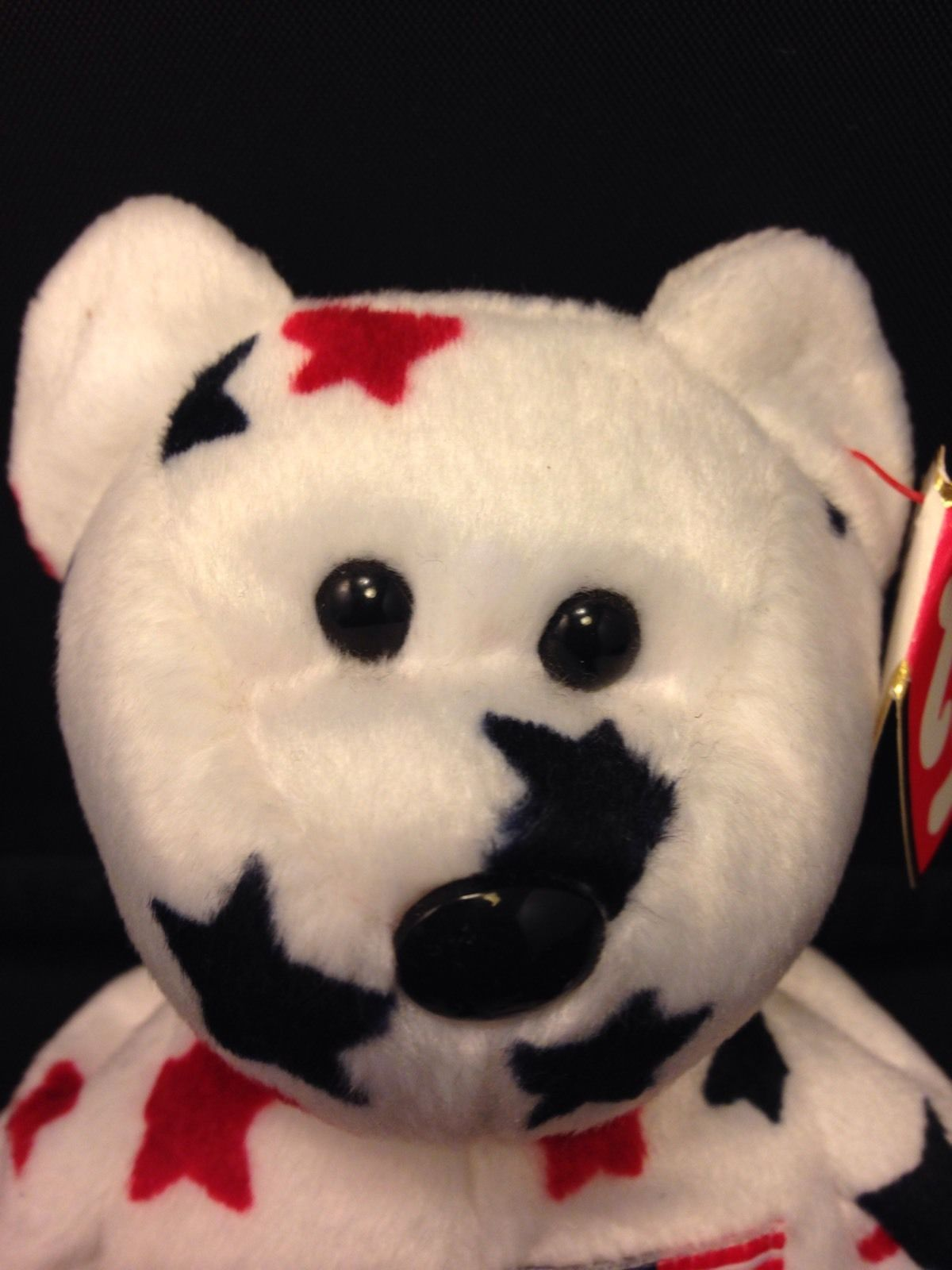 Glory Beanie Baby/Babies American Flag Bear Red/White/Blue TAG ERROR!