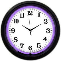 "Black Rim Purple Standard Neon Clock 15""x15"" - $59.00"