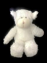 Boyds White Lamb Sheep Baby Toy Plush Lovey Rattle - $7.43