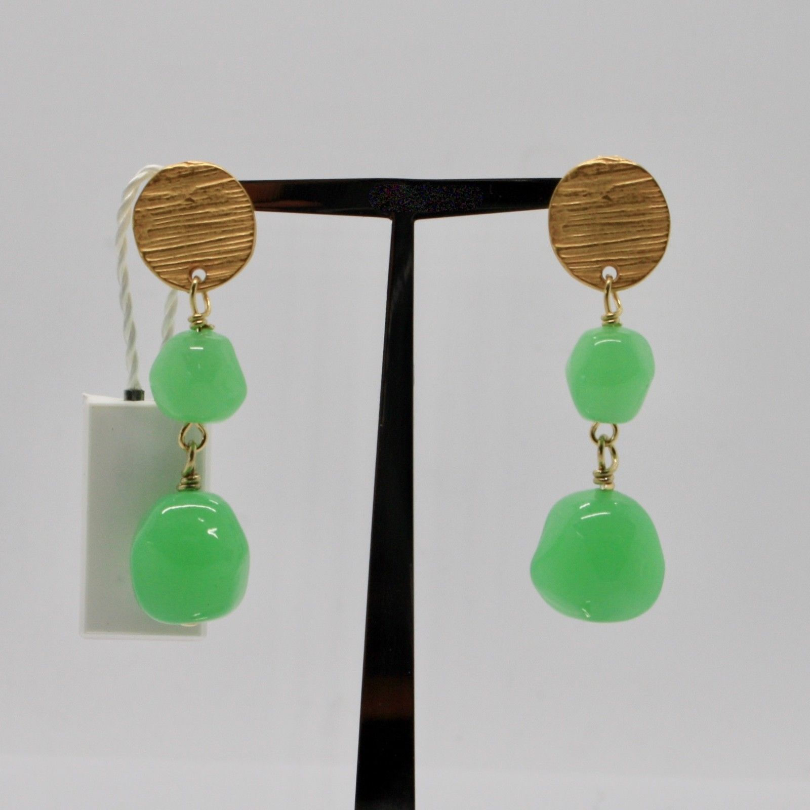 DROP EARRINGS ANTICA MURRINA VENEZIA WITH MURANO GLASS GREEN OR572A08