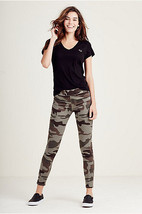 NWT TRUE RELIGION STARLET CAMO WOMENS LEGGING Jeans XXS MSRP: $199.00 - $89.99