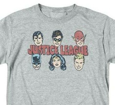 Justice League DC Heroes T-shirt Batman Superman superfriends grey cotton DCO819 image 1