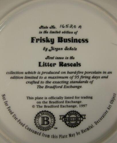 Frisky Business Bradford Exchange Decorative Plate Litter Rascals