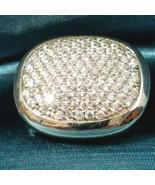 Fashion Rhinestone Cluster Ring Silver Tone Sz 6.5 - $18.80