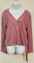 Xhiliration Rose Colored V Neck Long Sleeve 3/4 Length Top Size XXL NWT - $22.18
