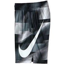 Nike Toddler Boy's Dri-Fit Printed Shorts, White (2T)