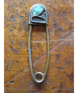 Fine Hancrafted Hippe Tuquoise Sterling Silver 925 Metal Key Holder Vint... - $95.00