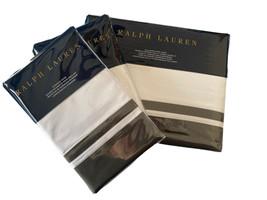 Ralph Lauren Home Duvet Cover full / QUEEN 2 Standard Shams Metro Gray $660 - $277.65