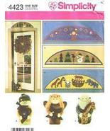 Simplicity 4423 Christmas Door Stops and Arches Pattern - $5.95