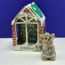 Itty Bitty Christmas ornament united design mouse mice critter 1986 litt... - $24.70