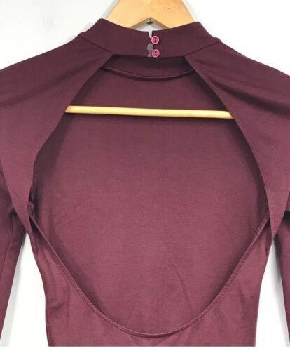Originale American Apparel Violette Vestito da Skater Porto Reale Burgundy XS image 7