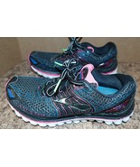 Ladies Size 6 EUR 36.5 Brooks Super DNA Lace Up Running Shoes Black and ... - $8.99