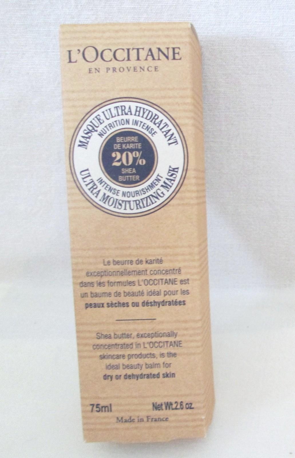 L'Occitane Ultra Moisturizing Mask 20% Shea. Boxed image 2