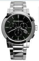 【BURBERRY】The City BU9351 Chronograph Stainless Steel Watch - 42mm - Warranty - $379.00