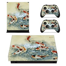 Fish wallpaper xbox one X skin decal for console and 2 controllers - $15.00