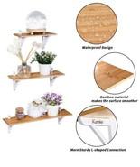 Kamiler Floating Shelves, Natural + White, Set Of 3 - $32.67