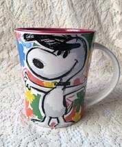 Peanuts Gang Coffee Cup Snoopy Magenta 15 oz Mug Cartoon Xmas Gift - $13.99