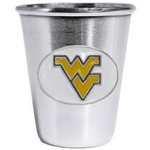 NCAA - W. Virginia Mountaineers Steel Shot Glass  - $24.99