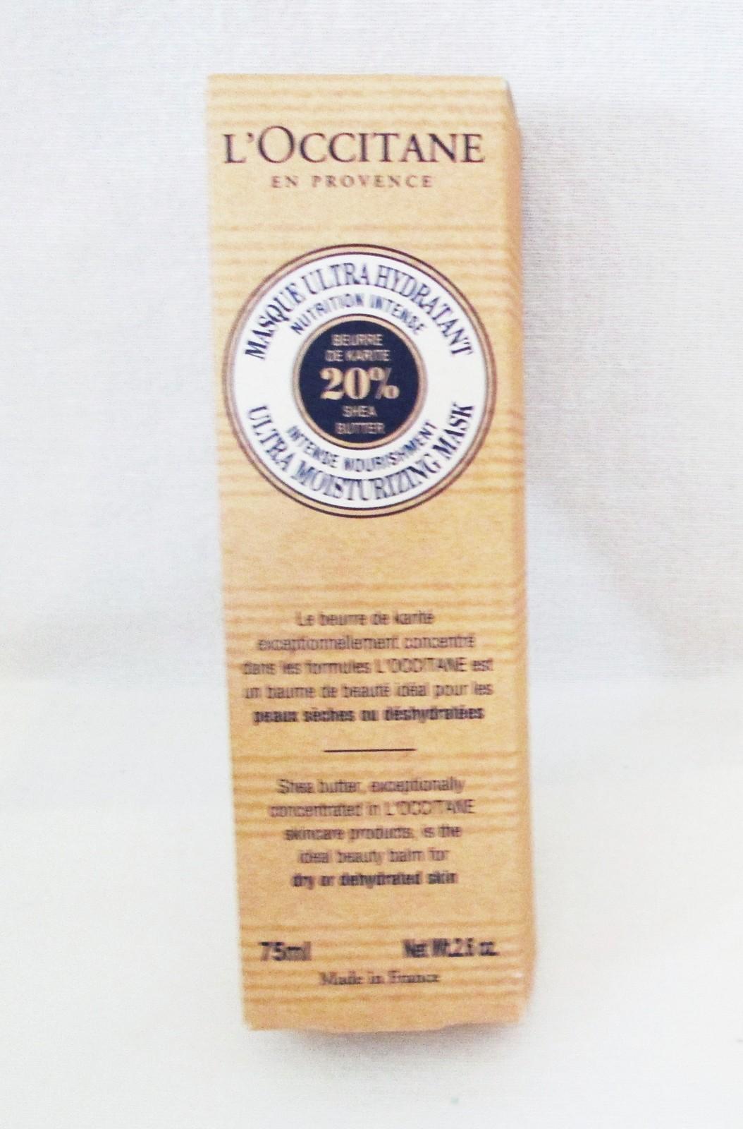 L'Occitane Ultra Moisturizing Mask 20% Shea. Boxed