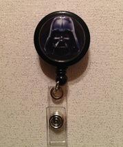 Star Wars Darth Vader Badge Reel Id Holder Alligator Clip Black Handmade... - $6.95