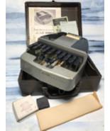 Vintage LaSalle La Salle Court Stenography Machine Stenotype Case & Paper - $18.80