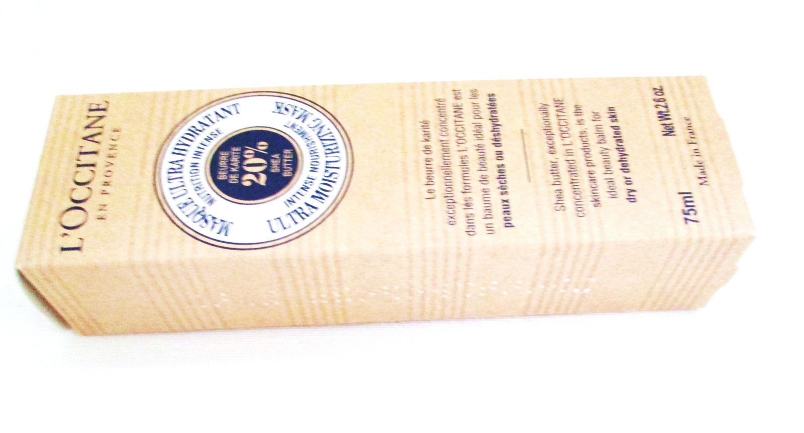 L'Occitane Ultra Moisturizing Mask 20% Shea. Boxed image 5