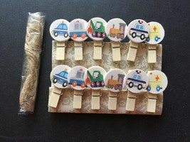 12pcs New Car Fashion Gifts.Wooden Clip,wooden Pegs,Birthday Party Favors - $3.20