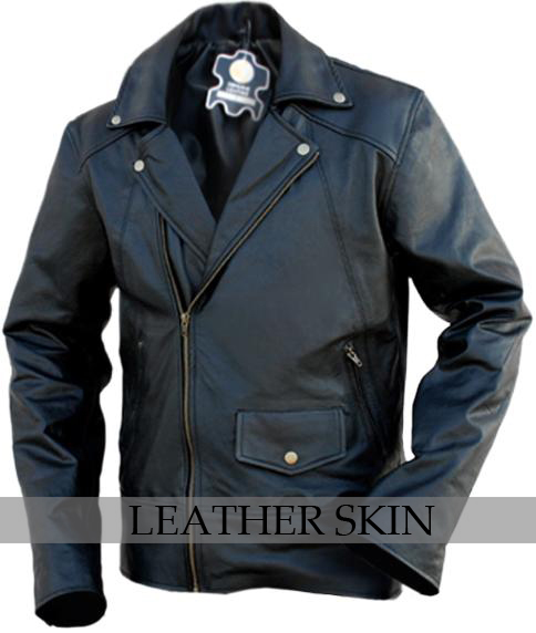 NWT Black Brando Premium Genuine Leather Jacket w/ Plain Lining