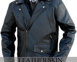 Black brando leather jacket front thumb155 crop