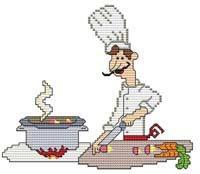 Primary image for French Chef Stew cross stitch chart Cross Stitch Wonders