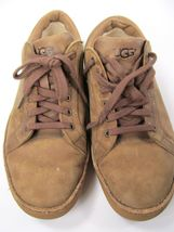 UGG  Australia Tan Distressed Leather Sneakers Mens size 7.5 (EU 40) S/N 1006875 image 5