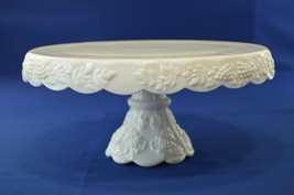 "Westmoreland 1881 Paneled Grape Cake Stand/Salver 11"" Round Footed W/Shirt - $34.65"