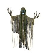 Halloween Hanging Scary Reaper Zombie Strobe Skull Haunted House Decor Prop - $776,47 MXN